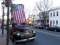 A familiar Old Town landmark, a 1941-46 Chevy pickup.