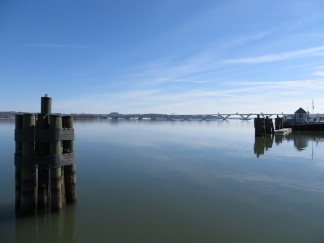 The Potomac River, looking downstream towards Wilson Bridge