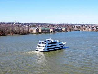 A Spirit cruise ship headed up the Potomac