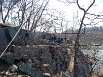 One of several rock scrambles on Section B
