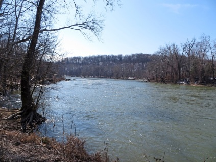 The Potomac River, looking downstream