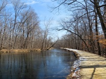 The C&O Canal, frozen over