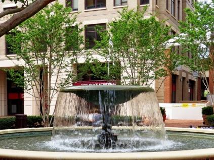 Fountain near King Street Metro