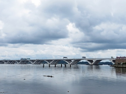 Wilson Bridge, with turtles sunning in the foreground