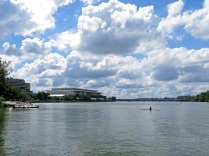A sculler on the Potomac