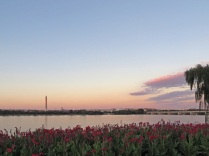The Potomac River, with the Washington Monument, the Jefferson Memorial, and the 14th Street Bridge