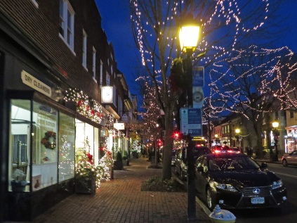 Decorated shops on King Street