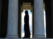 Silhouette of the Thomas Jefferson Statue