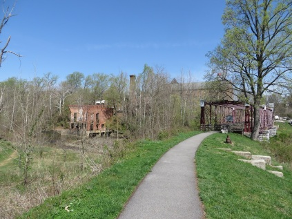 Savage Mill, with the Bollman Bridge at right