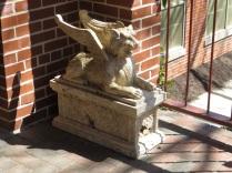 A griffon on Savage Mill's doorstep