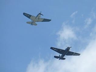SB2C Helldiver (L) and TBF Avenger (R)