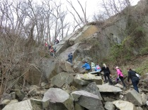 Climbing up Gulf Branch
