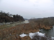 The Potomac River, looking upstream from Chain Bridge