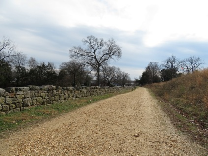 The stone wall below Marye's Heights